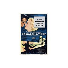 Alfred Hitchcock's To Catch a Thief, 1955, 'To Catch a Thief' Directed... ($50) ❤ liked on Polyvore featuring home, home decor, wall art and giclee wall art