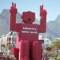 The should have one in every city, Coke crate man at the V & A Waterfront V&a Waterfront, Nordic Walking, Local Attractions, The V&a, Cape Town, Crates, South Africa, Stuff To Do, African