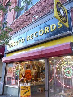 Cheapo Records in Central Square