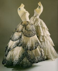 Christian Dior 1949 Gowns    Junon- Skirt of forty five pleats with an extraordinary amount of beading and embellishment     Venus- Frosted with iridescent beading and embroidery