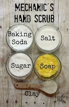 Diy Crafts - Celebrating the Anchor in My Life - Mechanic& Hand Scrub Recipe + Giveaway . Diy Gifts For Christmas, Diy Gifts For Men, Homemade Gifts For Men, Christmas Baskets, Diy Body Scrub, Diy Scrub, Homemade Hand Scrub, Homemade Shaving Cream, Body Scrub Recipe