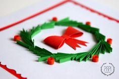 Świąteczna kartka ręcznie robiona Merry Christmas handmade quilling