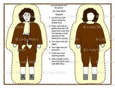Colonial Madis Pilgrim Man Cut and Sew Doll by Linda Walsh