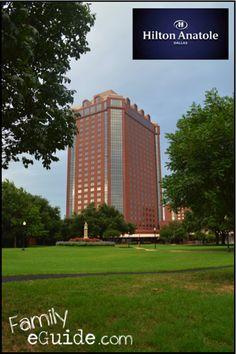 Hilton Anatole Hotel, Dallas, TX ~ via www.familyeguide.com