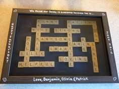 DIY Scrabble Shadowbox Artwork.  Birthday present?  Anniversary gift?  The possibilities are endless!