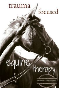 Trauma Focused Equine Therapy for the neglected, abused, and traumatized child. www.lovinadoptin.com #adoption #fostercare