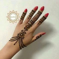 Very Simple Henna Hand Tattoos . Very Simple Henna Hand Tattoos . New Bridal Mehndi Designs, Mehndi Designs For Fingers, Beautiful Henna Designs, Best Mehndi Designs, Simple Mehndi Designs, Bridal Henna, Mehndi Images Simple, Mahendi Designs Simple, Mehandi Designs Latest