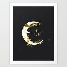 Buy La lune la nuit Art Print by bydylanm. Worldwide shipping available at Society6.com. Just one of millions of high quality products available.