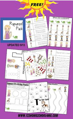 Disney - Free Tangled Preschool Worksheets for Toddler, Preschool, and Kindergarten #disney #preschool #disneykids #worksheetsforkids