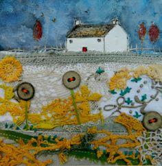 'The farm on Primrose Hill'  by Louise O'Hara of DrawntoStitch https://www.facebook.com/DrawntoStitch