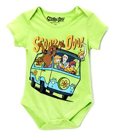 Take a look at this Lime Green 'Scooby Doo' Bodysuit by Scooby-Doo on #zulily today!
