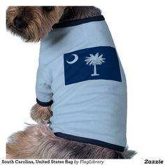 South Carolina, United States flag Dog Shirt