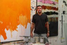 Chris Gwaltney in the studio.  I met him once and handled a few of his paintings. -Brighton Smith