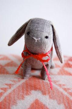 Medium Plaid BunnyMADE TO ORDER by sian on Etsy, $35.00