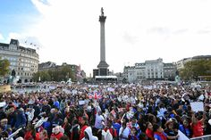 Thousands of well-wishers gathered in Trafalgar Square to celebrate the success of Britain's Olympic and Paralympic heroes