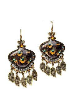 Sultry Peacock Earrings
