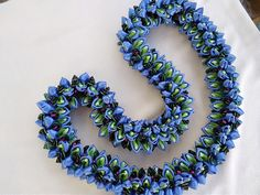 Ribbon Lei, Satin Ribbon Flowers, Fabric Flowers, Nylon Flowers, Fresh Flowers, Beautiful Flowers, Flower Lei, Hawaiian Flowers, Leis
