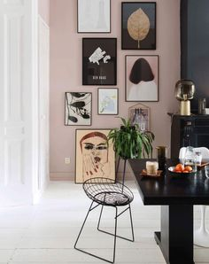 pink walls and art gallery wall via @theobert_pot on instagram. / sfgirlbybay