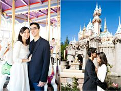 Sarina Love - disneyland family session ideas, love the angle to get the castle in on those busy busy days