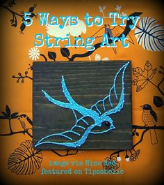 5 Ways to Try String Art, image via Nine Red featured on Tipsaholic