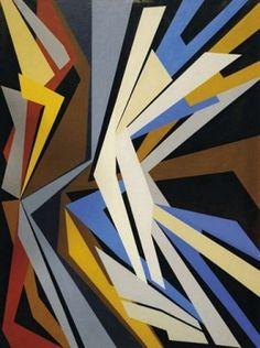 Gualtiero Nativi - Combinazione di forze, 1952 - Olio su tela, cm. 130 x 97 - FerrarinArte