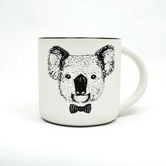Kaffeetasse mit Koala, Tassen Illustration, Teetasse / coffee pot with illustrated coala, tea cup made by Ja Cie Brosze via DaWanda.com