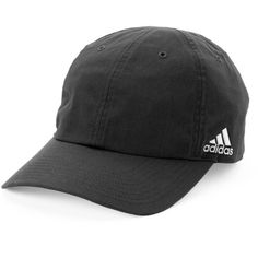 Women's Adidas Halo Baseball Hat ($17) ❤ liked on Polyvore featuring accessories, hats, black, velcro hat, logo hats, adjustable ball caps, brimmed hat and ball cap