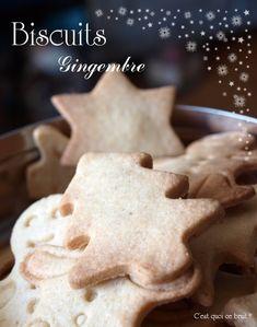 Biscuits de Noël au gingembre {recette gingerbread}
