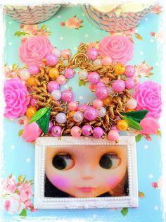 Blythe Beads and Flowers Charm Bracelet by InsanelySweetJewelry