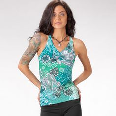 prAna (ancient Sanskrit meaning Life energy and vitality of the soul ) clothing is the ultimate in high-performance active wear - inspired by the passions o Soul Clothing, Tankini, Active Wear, Cool Outfits, Teal, Tank Tops, Swimwear, How To Wear, Clothes