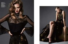 Harper's Bazaar Korea November 2012 - The Harper's Bazaar Korea November 2012 cover shoot showcases the best Gucci has to offer this fall season. Dark and glamorous, the editorial...