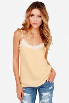 Slow Simmer Peach Camisole Top at LuLus.com!