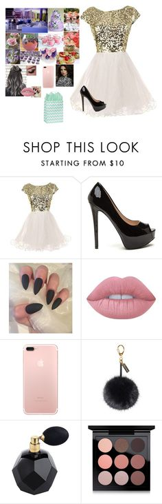 """""""At Riley's birthday party"""" by riley-497 ❤ liked on Polyvore featuring Lime Crime, Helen Moore and MAC Cosmetics"""