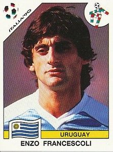 Enzo Francescoli of Uruguay. 1990 World Cup Finals card. Soccer Cards, Football Cards, National Football Teams, Sport Football, Messi, Player Card, Football Stickers, Good Soccer Players, World Cup Final