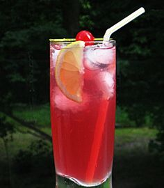 Key West Lemonade (2 oz. Vodka 2 oz. Sweet & Sour Mix 2 oz. Lemon-Lime Soda 2 oz. Cranberry Juice)