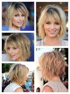 In LOVE with Dianna Argon's choppy mid length hair! <3