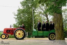 Amy Eby Photography. Wedding Photo. Funny Groom & Groomsmen Photo. Farm Wedding. Tractor Photo.