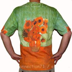 Van Gogh SUNFLOWERS Tournesols New Fine Art Hand Print PN T Shirt Mens XL NWOT #PN #TShirt #Sunflowers #Art #Shirt #VanGogh
