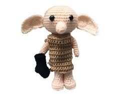 Dobby Harry Potter, Harry Potter Crochet, Crochet Gratis, Crochet Patterns Amigurumi, Amigurumi Doll, Crochet Dolls, Crochet Daisy, Cute Crochet, Learn Crochet