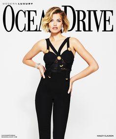Hailey Clauson on Ocean Drive January 2018 Cover