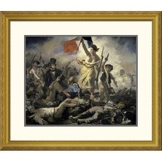 Global Gallery 'Liberty Leading the People' by Eugene Delacroix Framed Painting Print Size: