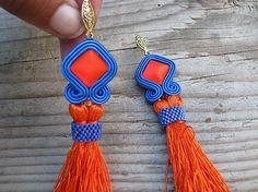 Ridgways / Sapphire/Orange - tassels ...soutache