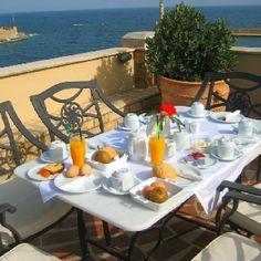 Breakfast overlooking Chania, Crete