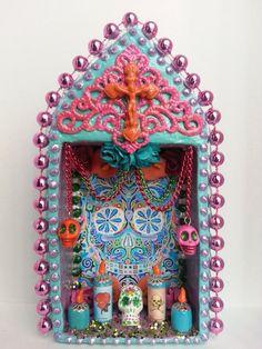Colorful Dia De Los Muerto Sugar Skull Loteria by littlesugarbox, $26.00