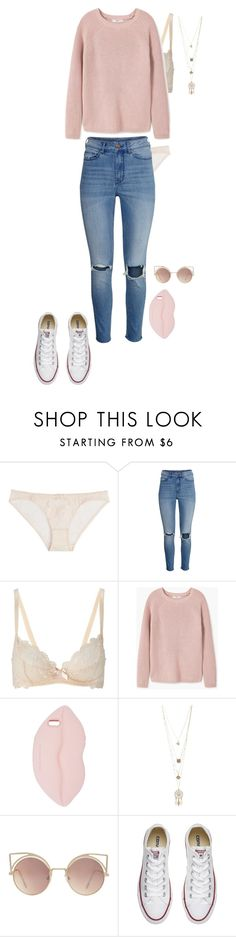 """//The silver of the lake at night, the hills of Hollywood on fire, a boulevard of hope and dreams and streets made of desire."" by ghiacciointempesta ❤ liked on Polyvore featuring L'Agent By Agent Provocateur, H&M, MANGO, STELLA McCARTNEY, Charlotte Russe and Converse"