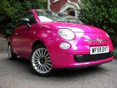 ooh pink Fiat 500