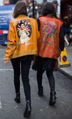 London Fashion Week, Outside the Shows, Street Style, Cropped Trousers, Personalised Jackets,  | NL Daily