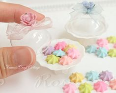 1:6 Dollhouse Miniature Food Candy Meringue Sweets Candy Cake