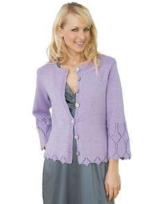 Strik selv: Smuk lilla trøje med hulmønster - Hjemmet DK
