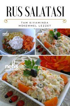 Rus Salatası Tarifi nasıl yapılır? 3.808 kişinin defterindeki Rus Salatası Tarifi'nin resimli anlatımı ve deneyenlerin fotoğrafları burada. Yazar: Mutfak Gülü